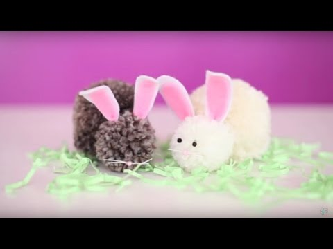 Easter craft diy bunny pom pom youtube easter craft diy bunny pom pom solutioingenieria Images