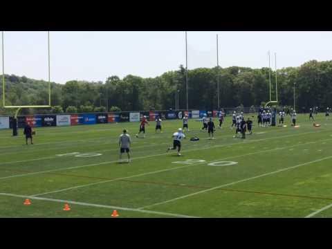 Tom Brady Works With Patriots RBs