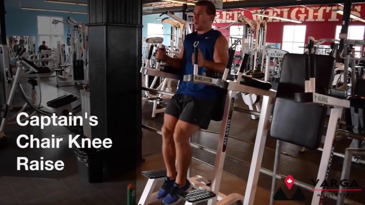 Captain S Chair Knee Raise Youtube