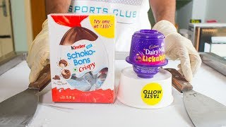 LICKABLES with KINDER SCHOKO BONS ICE CREAM ROLLS with ICE CREAM TRUCK TOY thumbnail