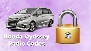 How To Get Your Honda Odyssey Radio Code Online | Easy