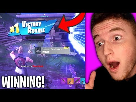 WINNING ON FORTNITE BATTLE ROYALE! (Epic)😲