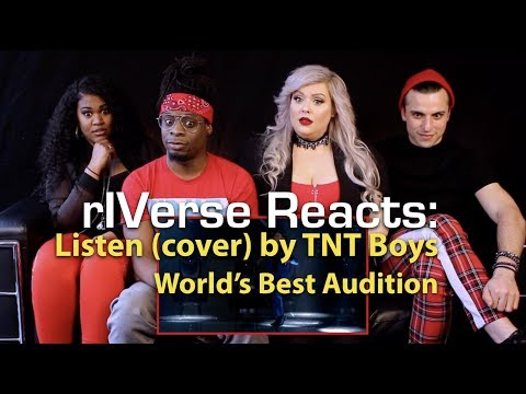 RIVerse Reacts: Listen (cover) By TNT Boys - World's Best Audition Reaction