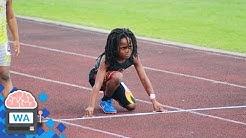 7 Jähriger hält mit Usain Bolt mit - das schnellste Kind der Welt!