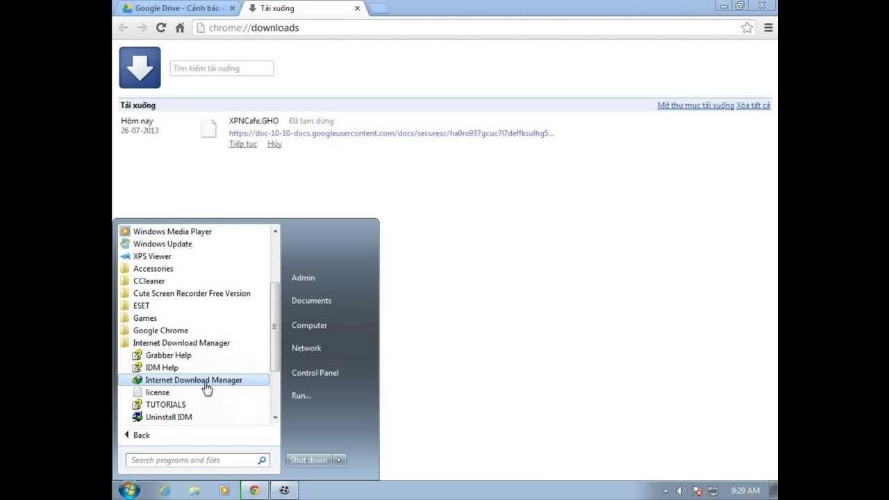 make idm default downloader chrome