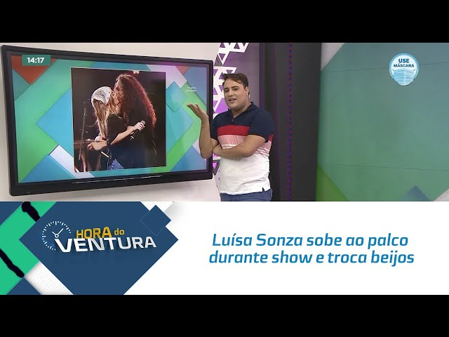 Luísa Sonza sobe ao palco durante show e troca beijos com Vitão