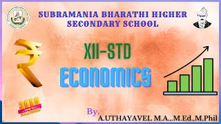 XII STD ECONOMICS CHAPTER- 7 (DEFINITION EQUILIBRIUM OF EXCHANGE RATE)