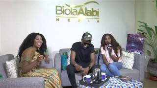 Behind the scenes with Lara & The Beat stars, Seyi Shay & Vector