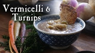 A Savory Noodle and Turnip Wintertime Soup