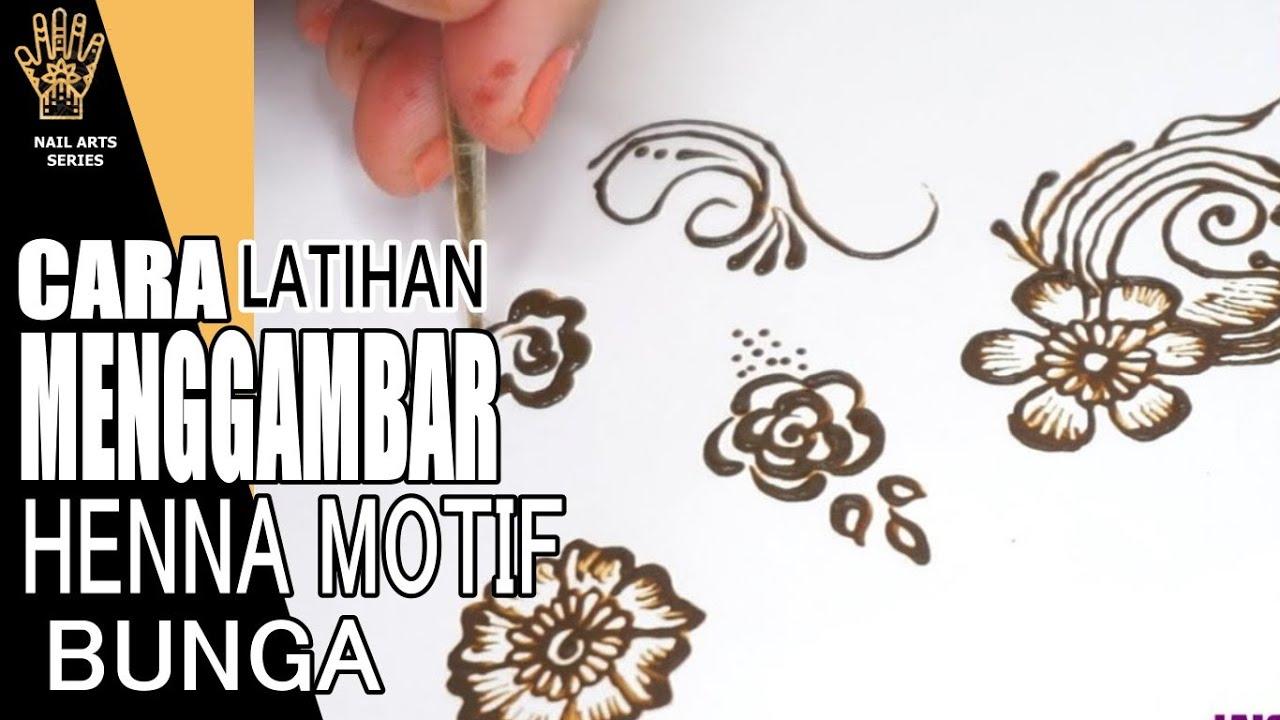 Cara Menggambar Henna Bunga Simple Youtube