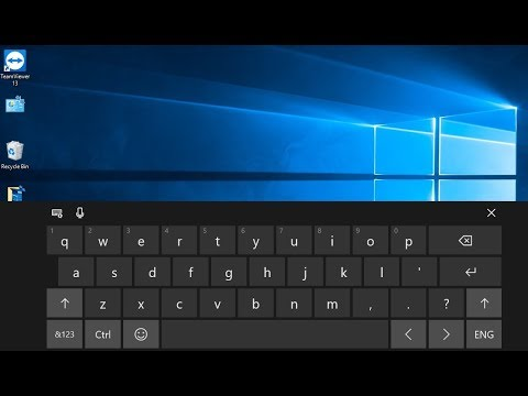 How to Use the Touch Keyboard in Windows 10 Fall Creator Update
