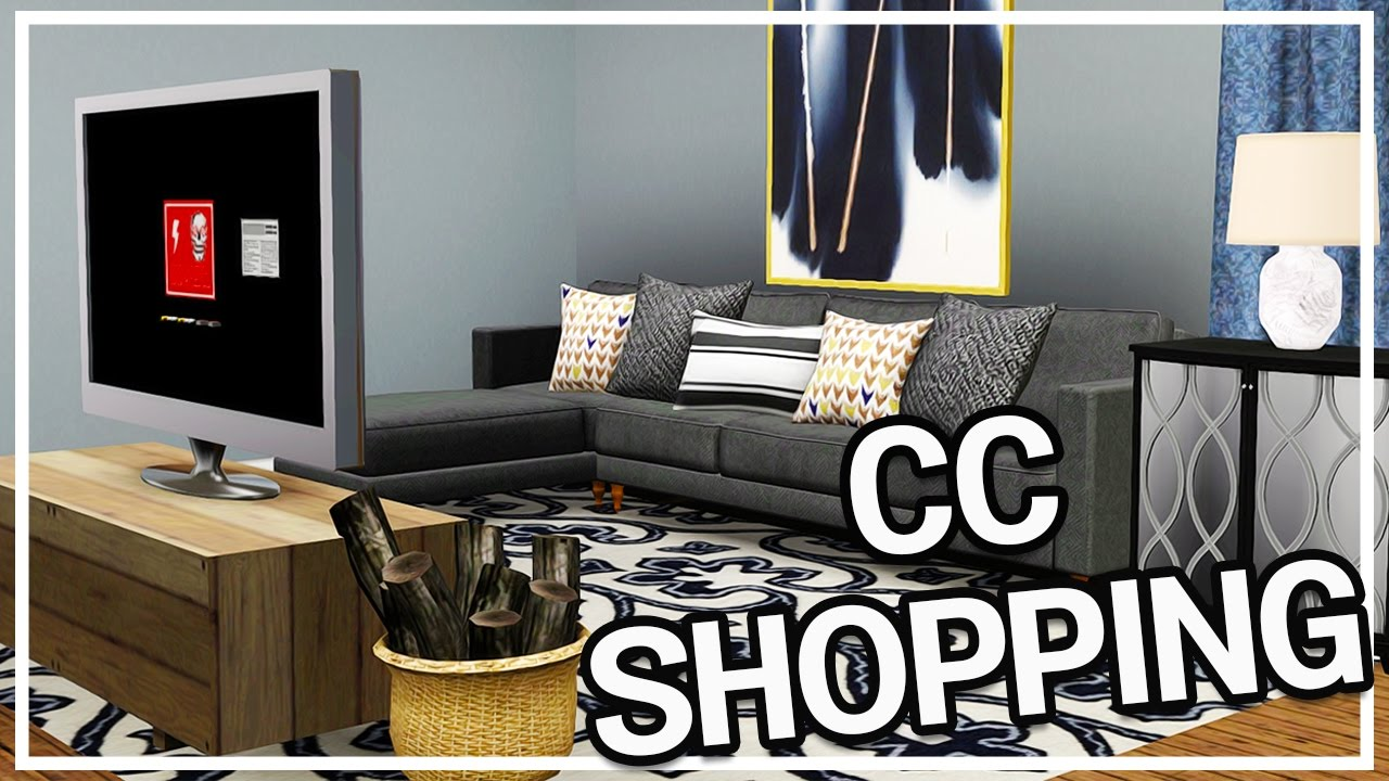 sims 3 custom content shopping #8: huge home decor haul + facecam