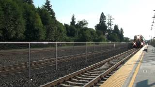 Sounder Commuter Train departing Mukilteo, WA. 9/28/09
