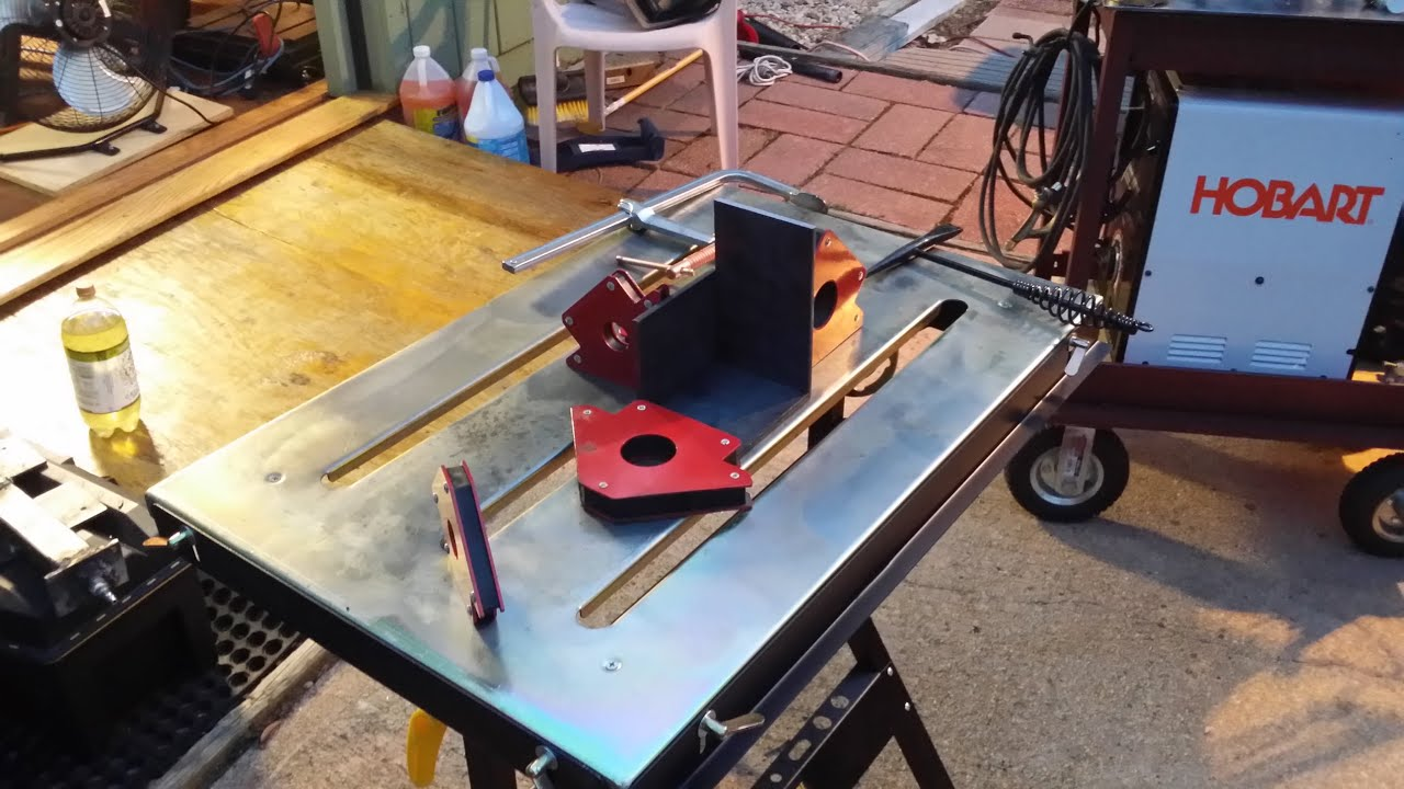 Harbor Freight folding welding table review - YouTube