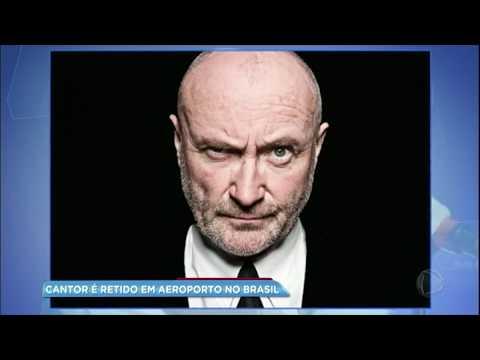 Hora da Venenosa: Phil Collins é retido em aeroporto no Brasil