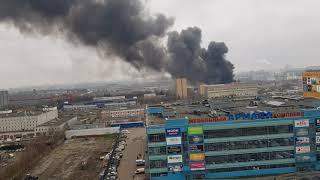 Смотреть видео Москва Пражская пожар 13 декабря пятница онлайн