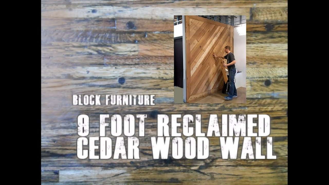 Reclaimed Cedar Wood Wall Denver Hair Salon - YouTube - Reclaimed Wood Denver WB Designs