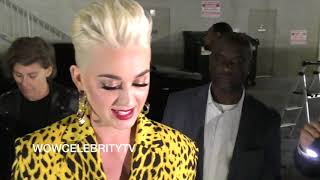 Katy Perry Apologizes to fans and signs autographs at Jimmy Kimmel Live in Hollywood