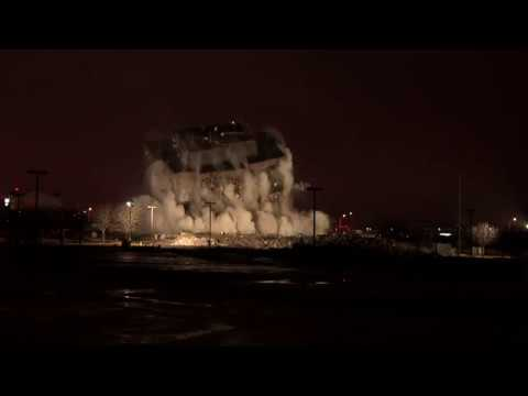 Crews Implode High Rise in Overland Park