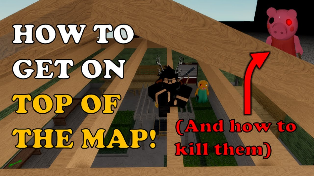 How to GLITCH on TOP OF THE MAP (And How to CATCH CAMPERS There) in Piggy 2 [Chapter 2 - Store]