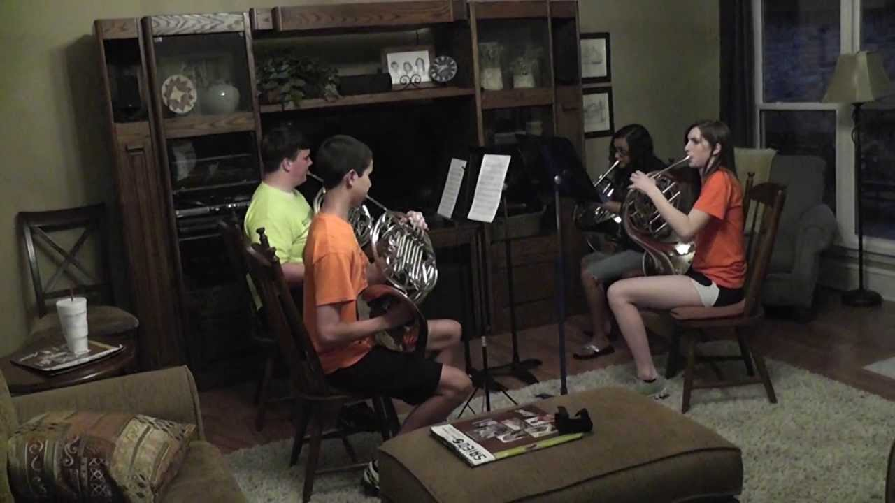 French Horn Quartet In My Living Room - YouTube