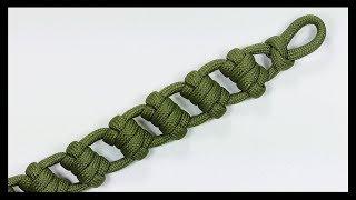 """Paracord Bracelet Tutorial: """"Ladder Strap"""" Bracelet Design Without Buckle"""