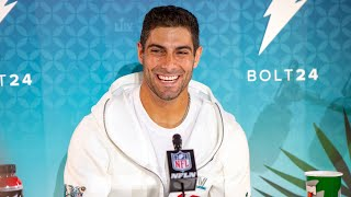 49ers QB Jimmy Garoppolo comments on Super Bowl matchup