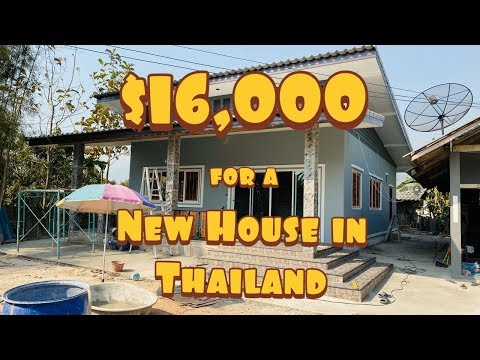 Building a Brand New House in Thailand for $16,000 USD