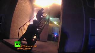 Dramatic video: Texas police rescue boy who was forced to jump from fire
