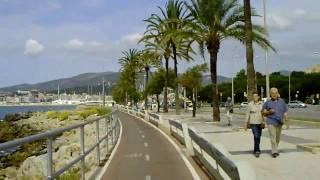 Radfahren Mallorca 2010 Strand-Radweg Richtung Palma Teil 5