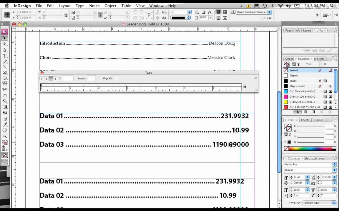 Worksheets Dotted Line Page how to create leader dots with indesign follow the youtube