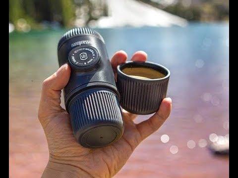Demo of Wacaco Nanopresso Espresso maker with Nespresso pod