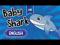 Baby Shark + parents & grandparents | Nursery Rhyme Song for Childrens with Baby Shark Family | 4K