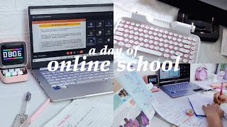 STUDY VLOG | a day of online classes, keyboard unboxing