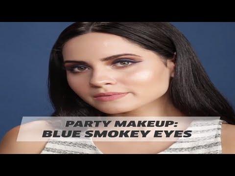 Party Makeup: Blue Smokey Eyes