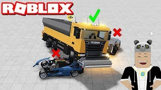 Giant Truck or Small Cars? Playing Car Scramble - Roblox Car Crushers with Panda 2