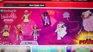 American Girl GOTY Isabelle McDonald's Toys!!