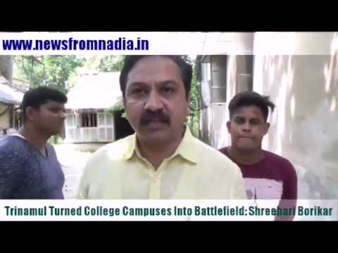 TRINAMUL TURNED COLLEGE CAMPUSES INTO BATTLEGROUNDS: SHREEHARI BORIKAR