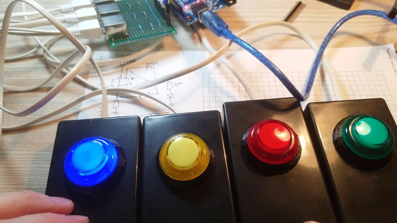 Making an arduino game or quiz show button system youtube making an arduino game or quiz show button system will bushee solutioingenieria Choice Image