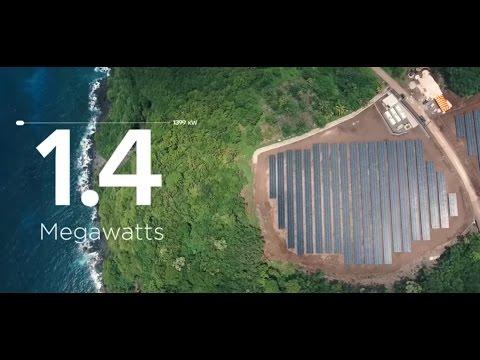 Güneş Enerjisi ile Tüm Bir Adaya Enerji Sağlanıyor  - Tesla & SolarCity