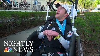 Inspiring America: Man With Cerebral Palsy Finishes Half-Ironman | NBC Nightly News