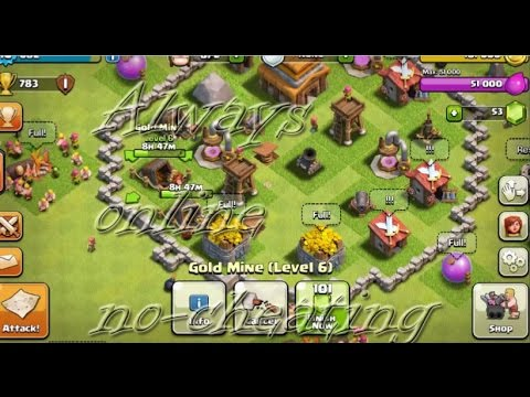 24/7 Always Stay Online On Clash Of Clans (CoC) - [WORKS!!!]