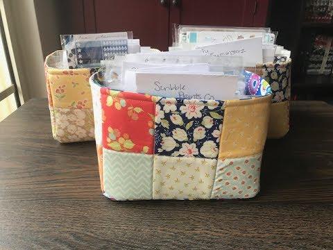 Sticker Organization (homemade baskets and organization)
