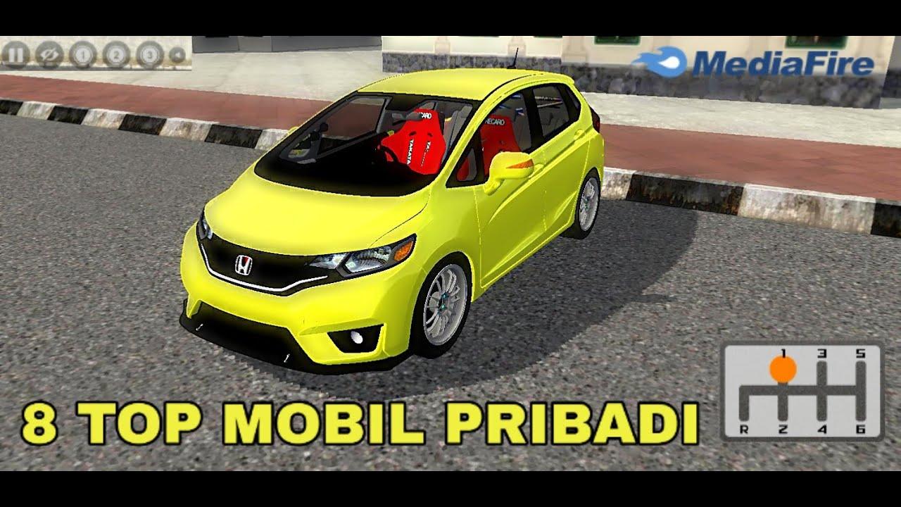8 Top Mobil pribadi Full anim terbaru || mod bussid terbaru