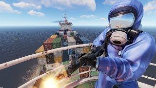 Rust - Штурм и захват корабля с учеными NPC!