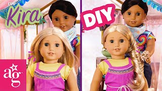 @American Girl Doll Crafts | GLAMPING! Eco-Friendly Camp Decor & How to Fishtail Braid! | CAMP KIRA