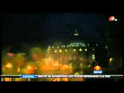 Cae rayo en el Vaticano tras renuncia del Papa Benedicto XVI