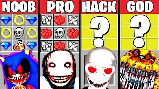 Minecraft Battle Monster Exe Mutant Crafting Challenge - Noob Vs Pro Vs Hacker Vs God  Animation