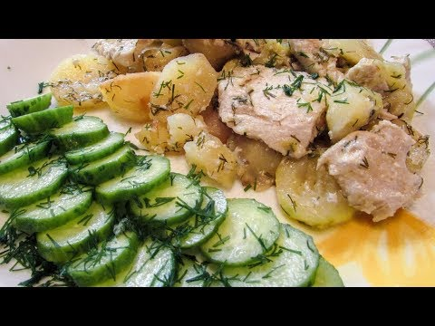 Курица с кабачками и картофелем