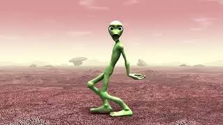 Green alien dancing a spanish song.